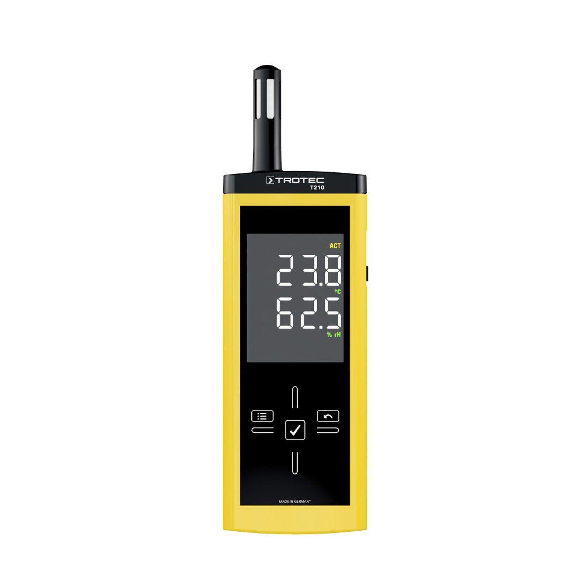 Thermohygrometer, T210, gelb/schwarz, -20-50°C, 0-100 % r.F.