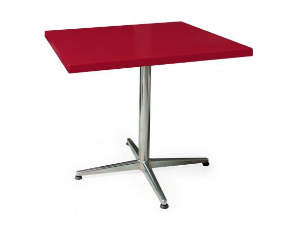 GFK Tisch rubinrot 80x80