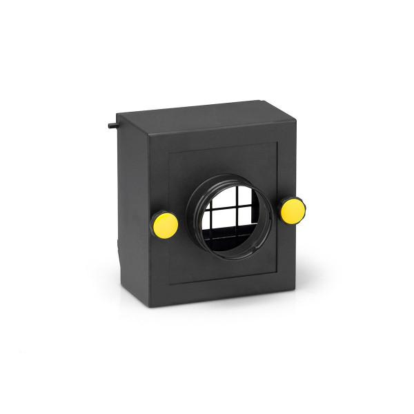 Filterbox Regenerationsluft-Eintritt, zu TTR 400 D, Metall, schwarz, D 80 mm