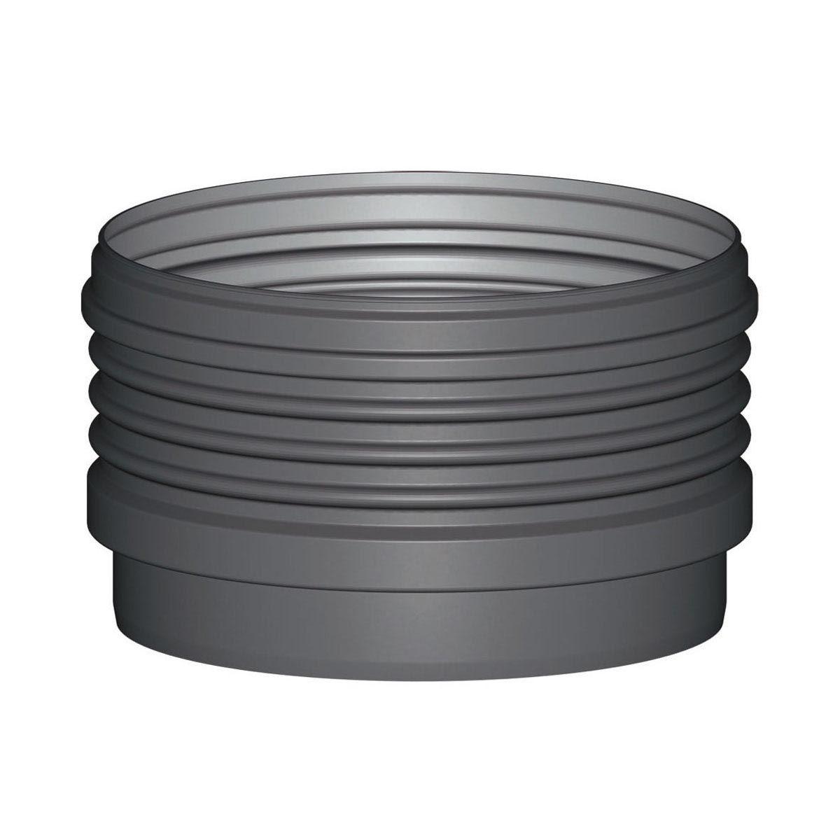 Zwischenstück mit Profildichtung, schwarz, 400 x 600 mm