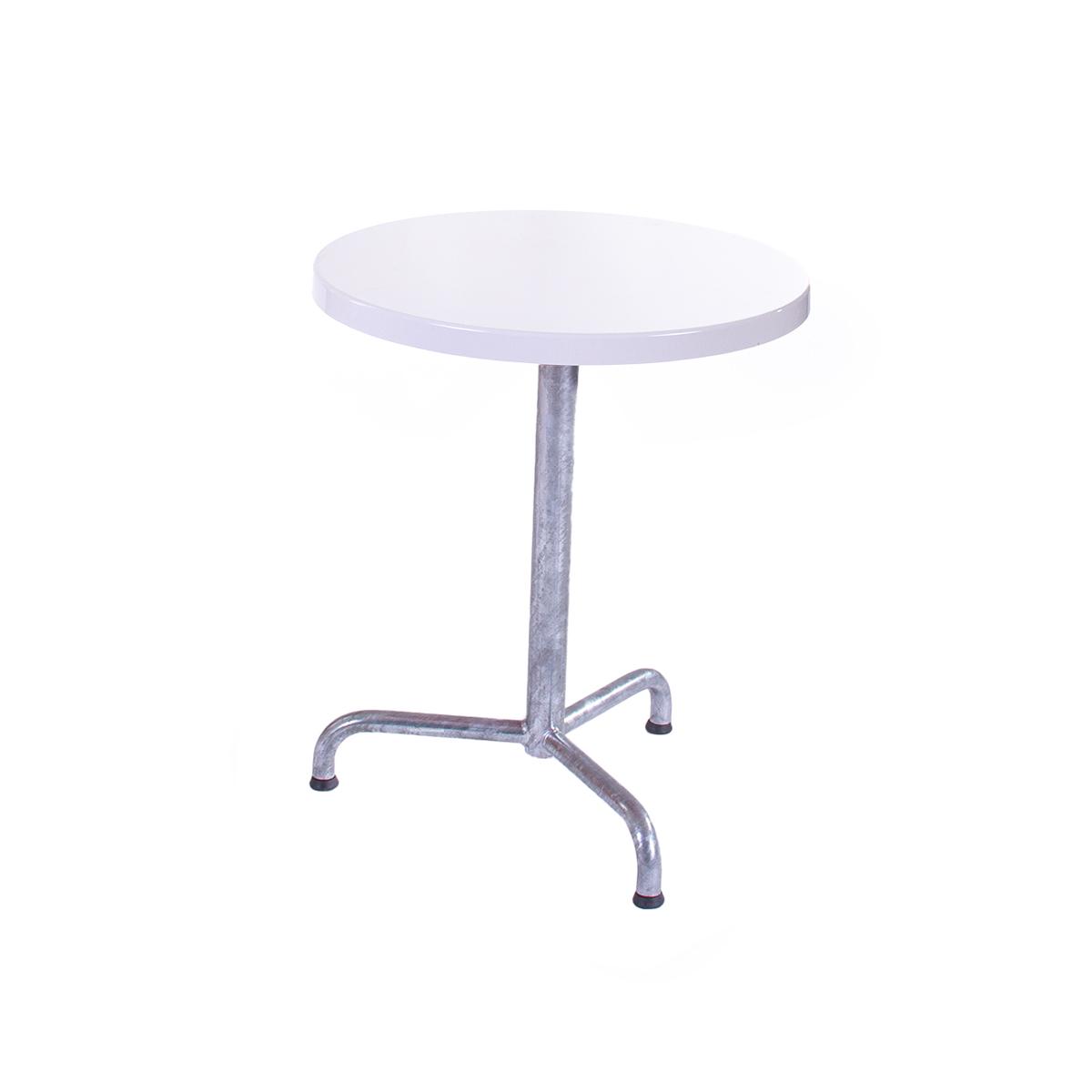 GFK Tisch reinweiss D60