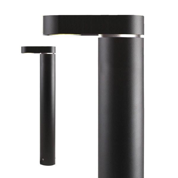 Standleuchte Barite Downlighter, Aluminium, schwarz, warm weiss, 12 V, 3 W, 495 x 65 x 145 mm