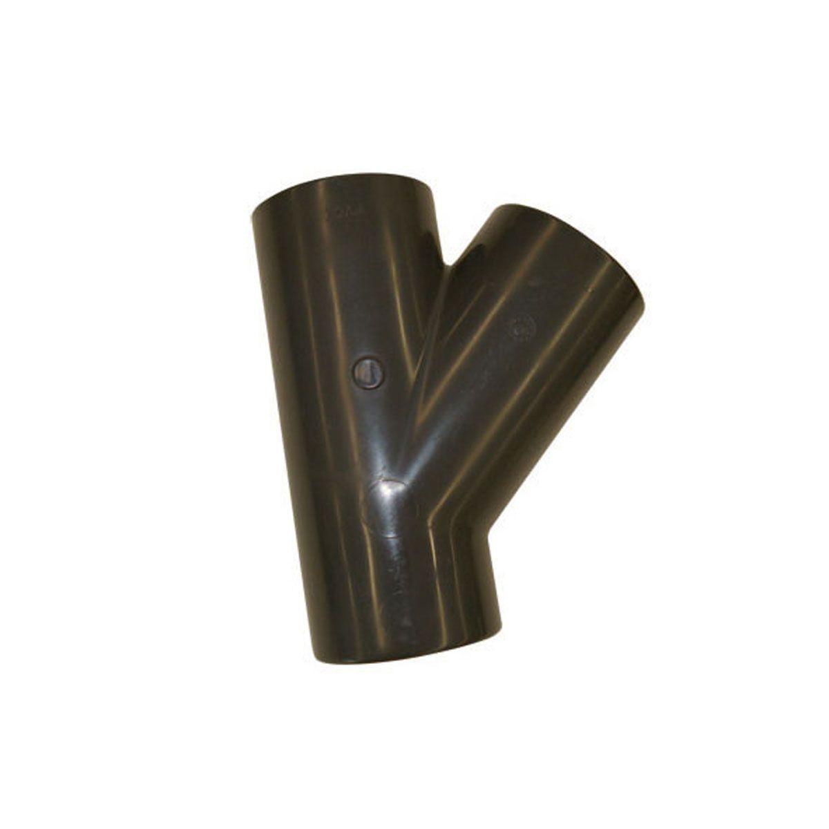 T-Stück 45° zum Kleben, aus PVC, grau, d 20 mm, PN 16