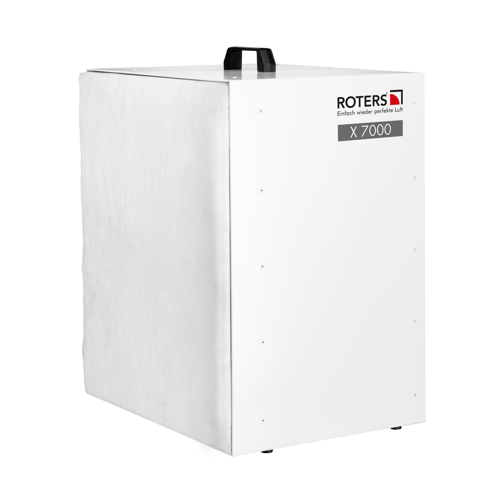 Staubfilterbox X7000, Stahl lackiert, grau, 700 x 400 x 400mm, D 400 mm, 2400m3/h