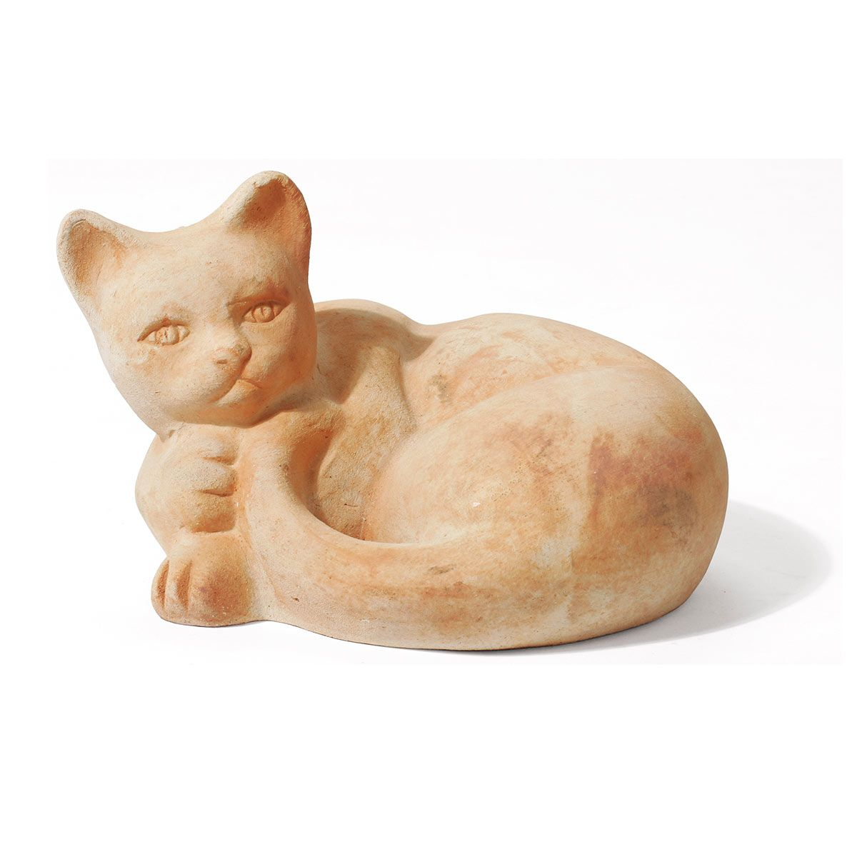 chat, en terre cuite, marron, 280 x 200 x 140 mm, 4 kg