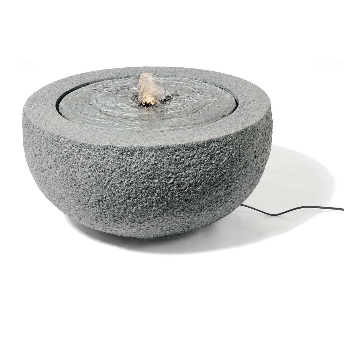 Wasserspiel Brunnen, aus GFK, Granit Grey, D 570 x 290 mm, 12 V, 7.5 kg