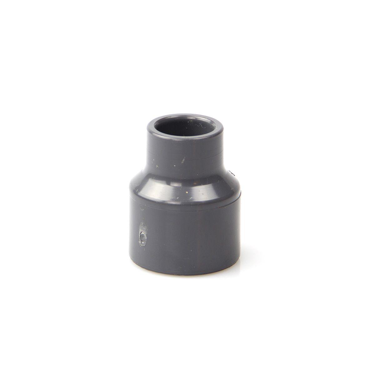 Reduktion lang zum Kleben, aus PVC, grau, d 20 x D 25 x d 16 mm, PN 16