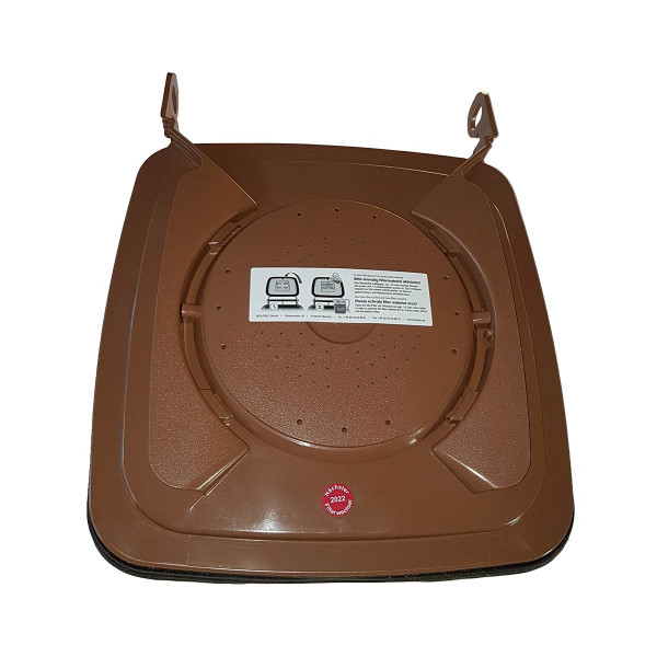 Bio-Filterdeckel 140, inkl. Bio-Filtermaterial, braun,