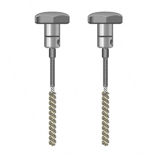 Bürsten-Elektrodenpaar, TS 020/110, isoliert, D 7 mm, 110 mm