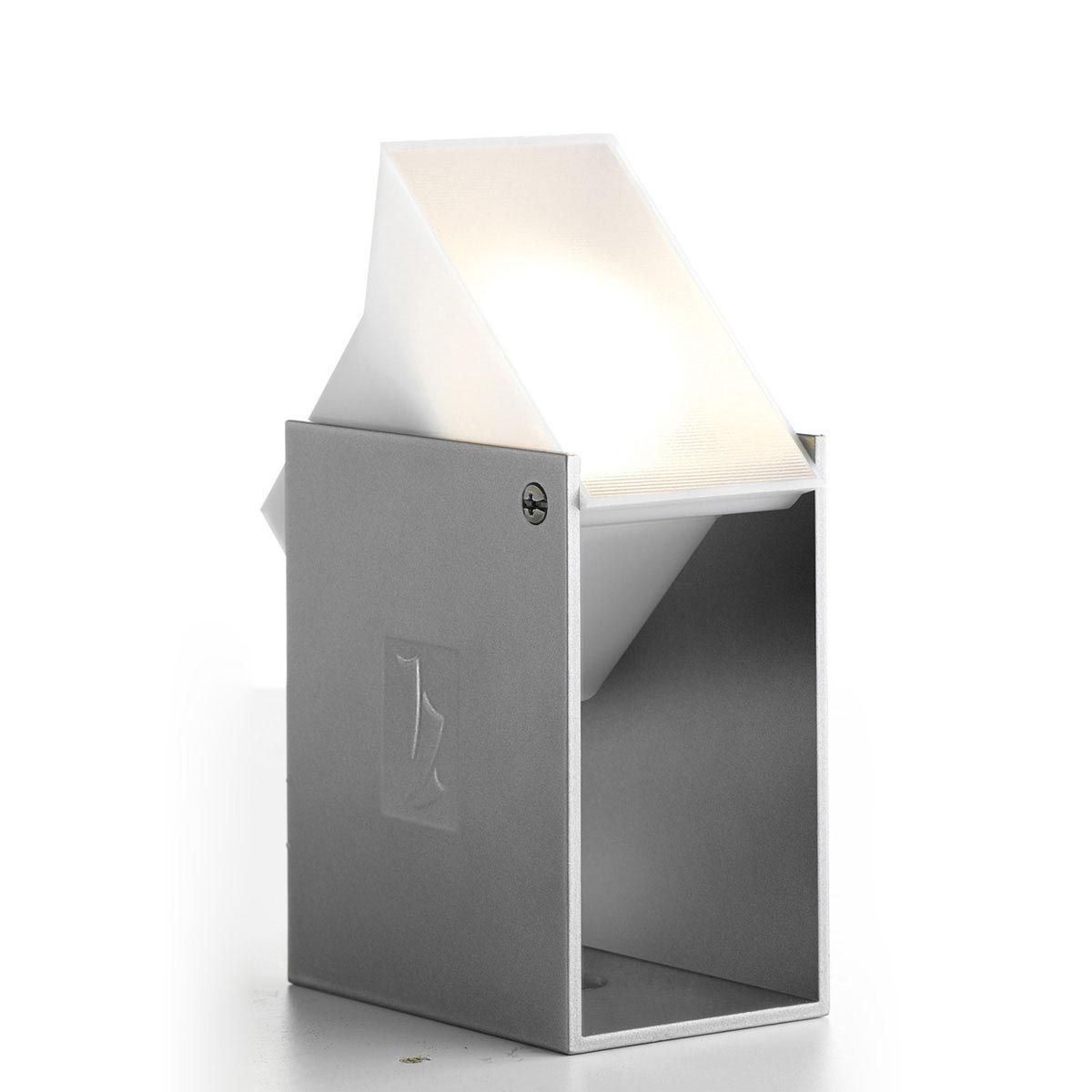 Wandleuchte Pearl, Aluminium, anthrazit, 3 W LED, warmweiss, 12 V, 115 x 65 x 95 mm