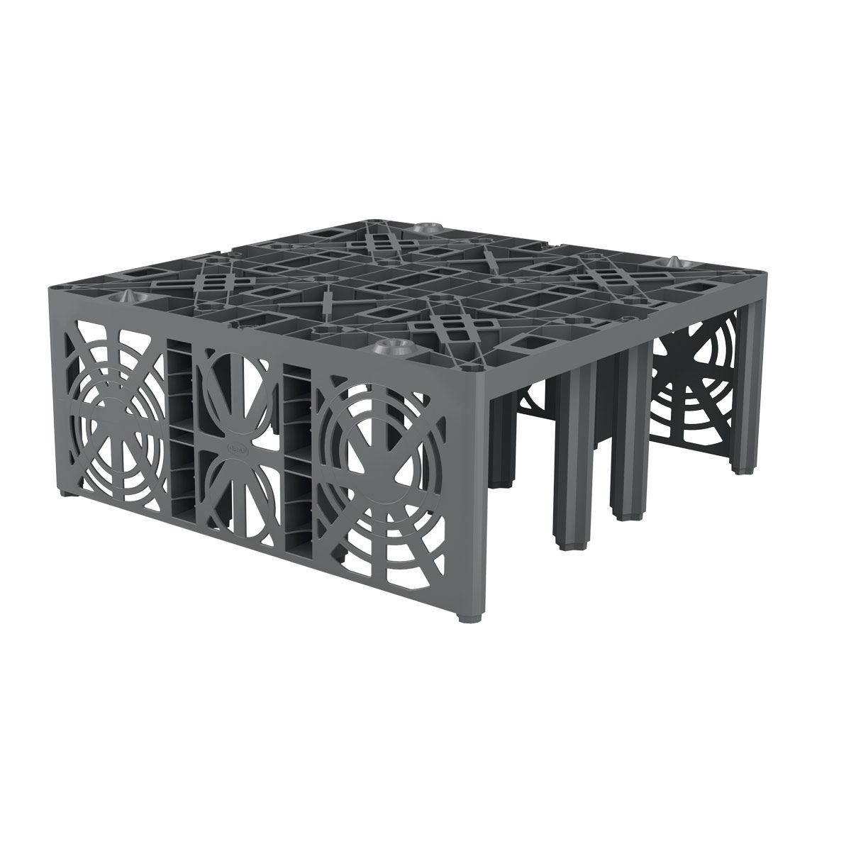 Rigole, EcoBloc Inspect flex, 800 x 800 x 320 mm