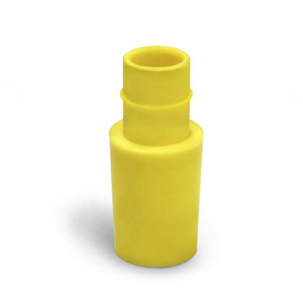 Lufteinflutstutzen VQuick, zu 38 mm Schlauch, gelb oder schwarz,