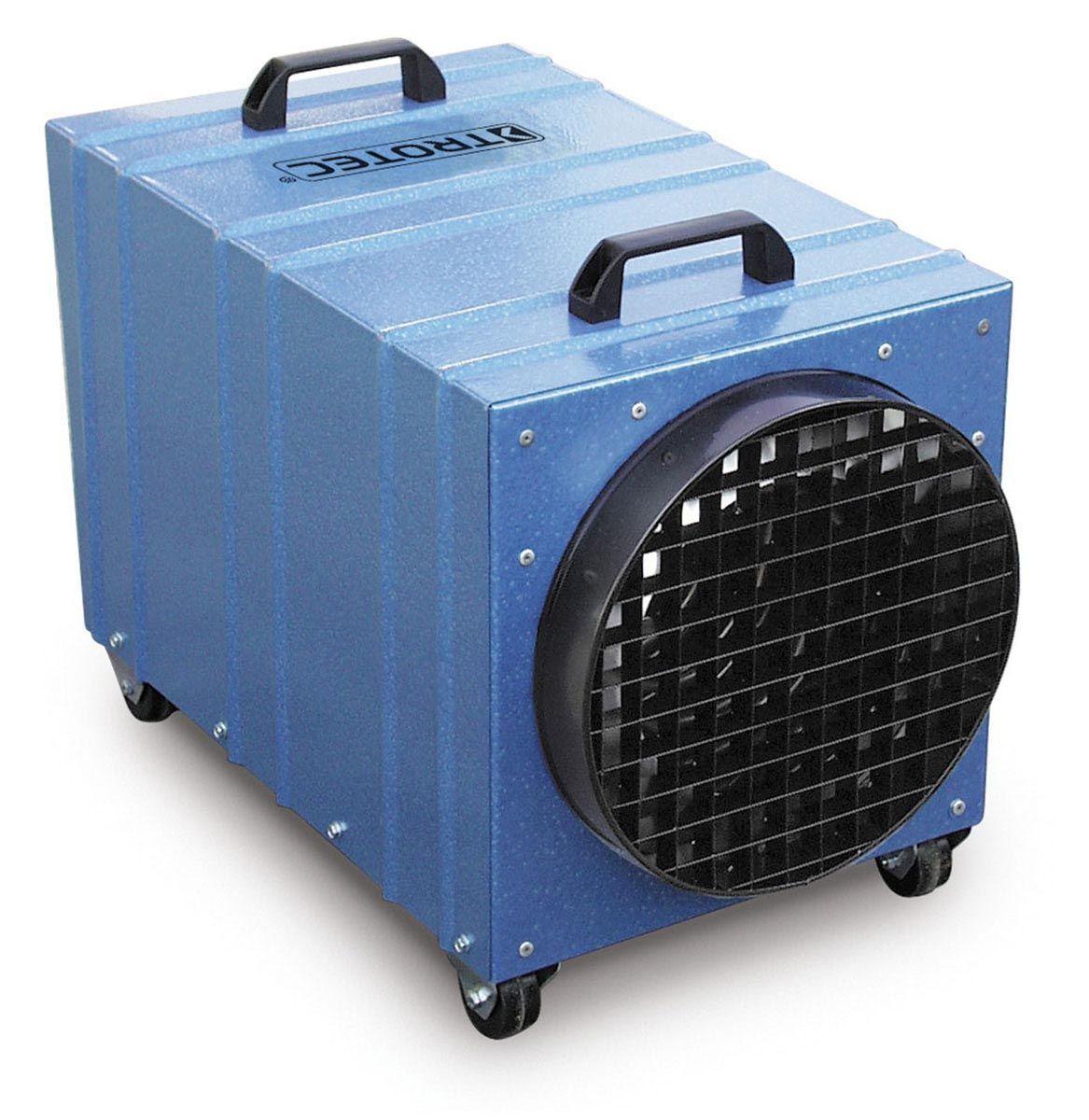 Chauffage électrique professionnel, TDE 65, bleu/noir, 400 V, 6-9-12 kW, 600 m3/h