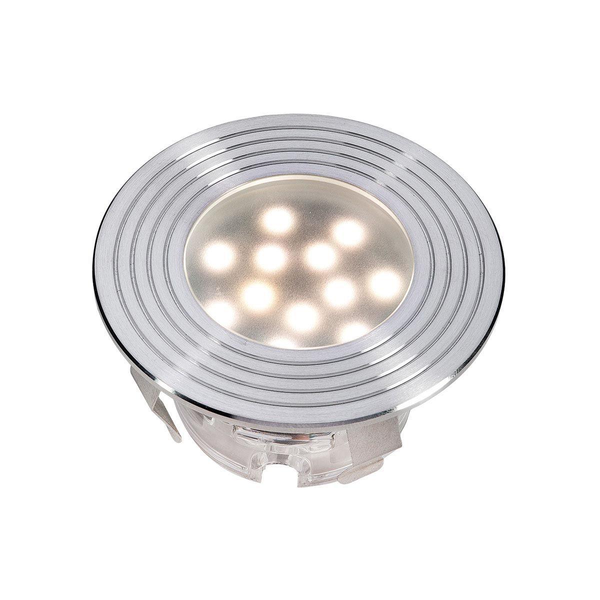 Einbauleuchte Doba R2, aus Edelstahl, 1 W LED, warm weiss, 12 V, 45 x 75 mm