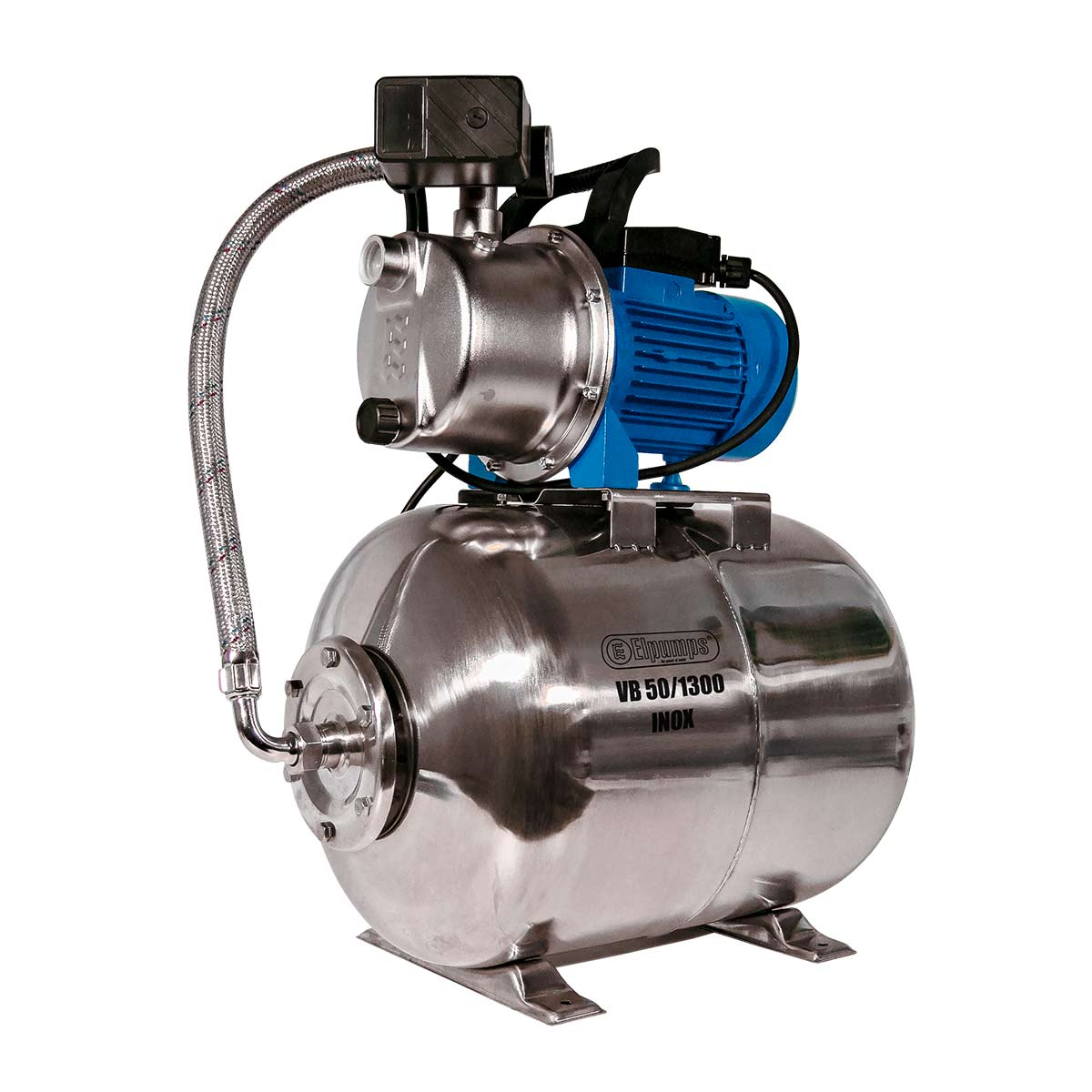 Hauswasserwerk VB 50/1300 INOX, H max 48.0 m, Q max 5400 l/h, 1.3 kW, 605 x 365 x 650 mm, 1' IG, 230 V