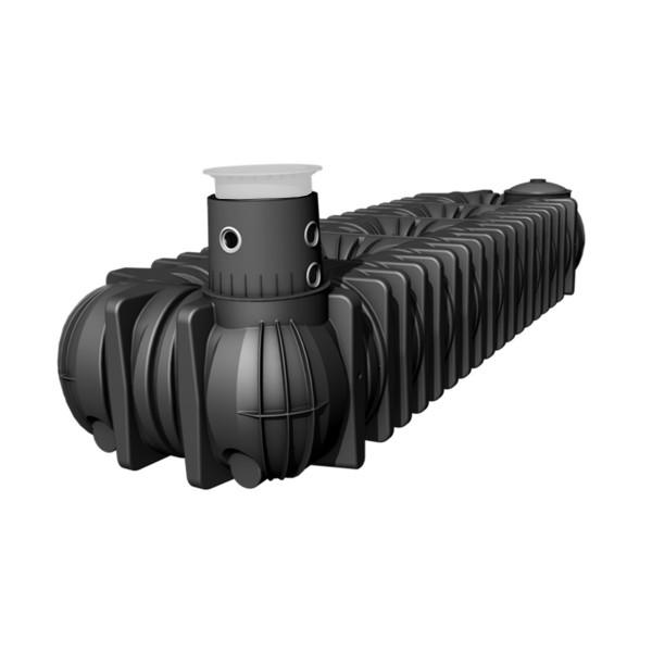 Flachtank XXL, aus PE-LLD, schwarz, 20000 l, 9405 x 2250 x 1950 mm, 915 kg