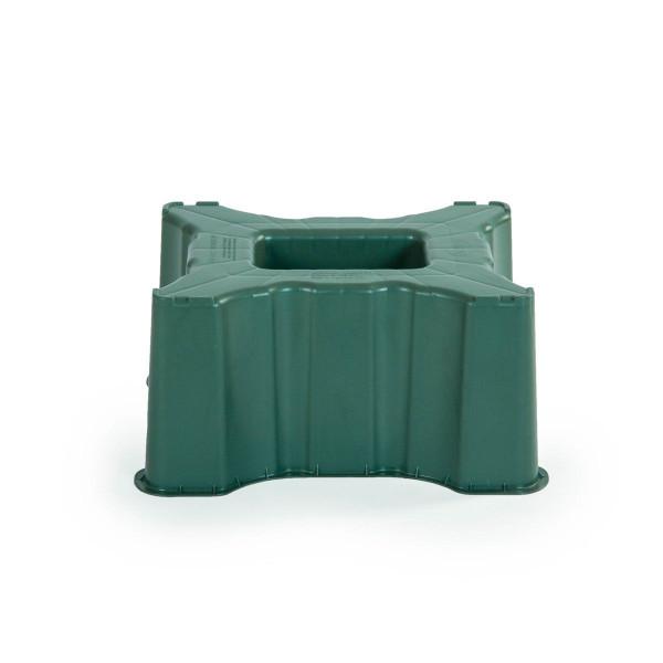 Unterstand, aus PP, grün, eckig, 300 l, 530 x 530 x 330 mm