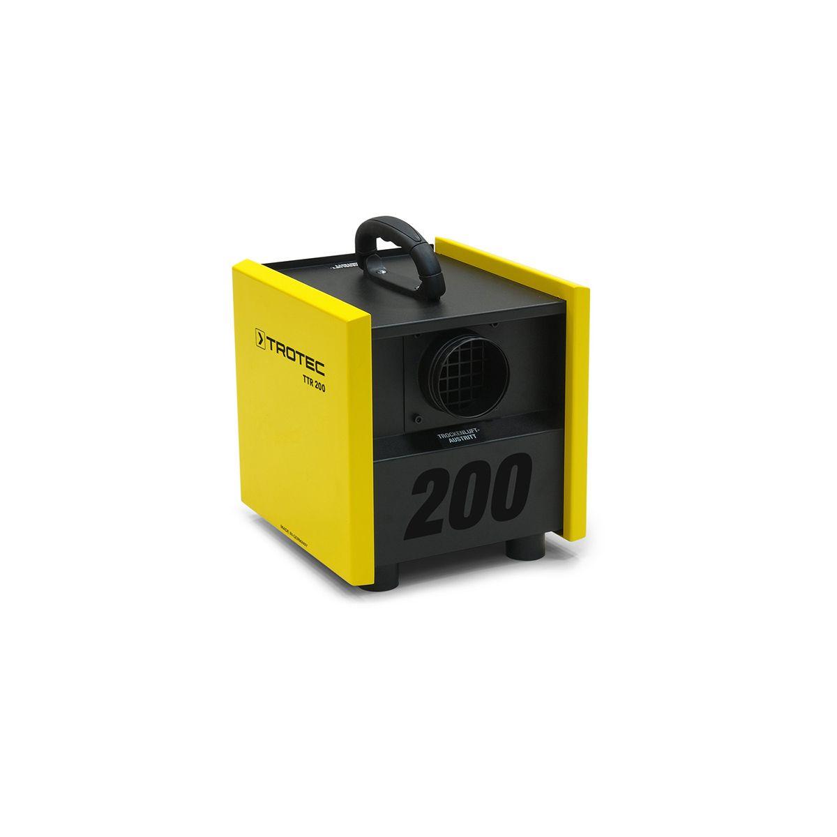Adsorptionsluftentfeuchter, TTR 200, gelb/schwarz, 230 V, 0.45 kW, 80 m3/h, 0.25 kg/h