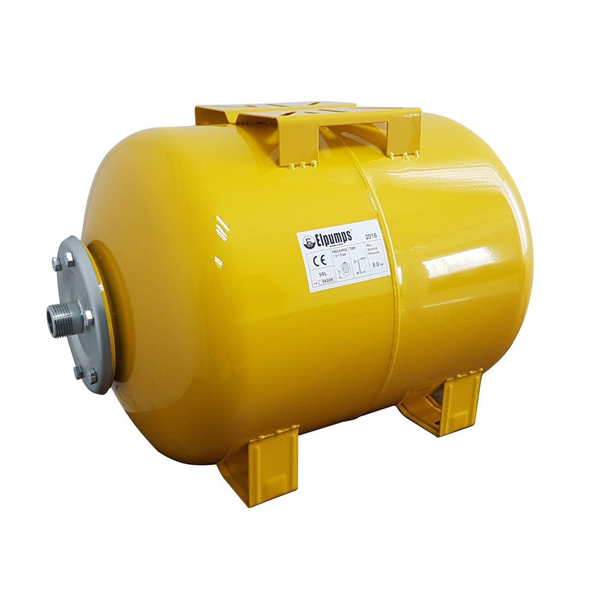 Expansionsgefäss, Stahlblech lackiert, gelb, 50 l, 1' AG
