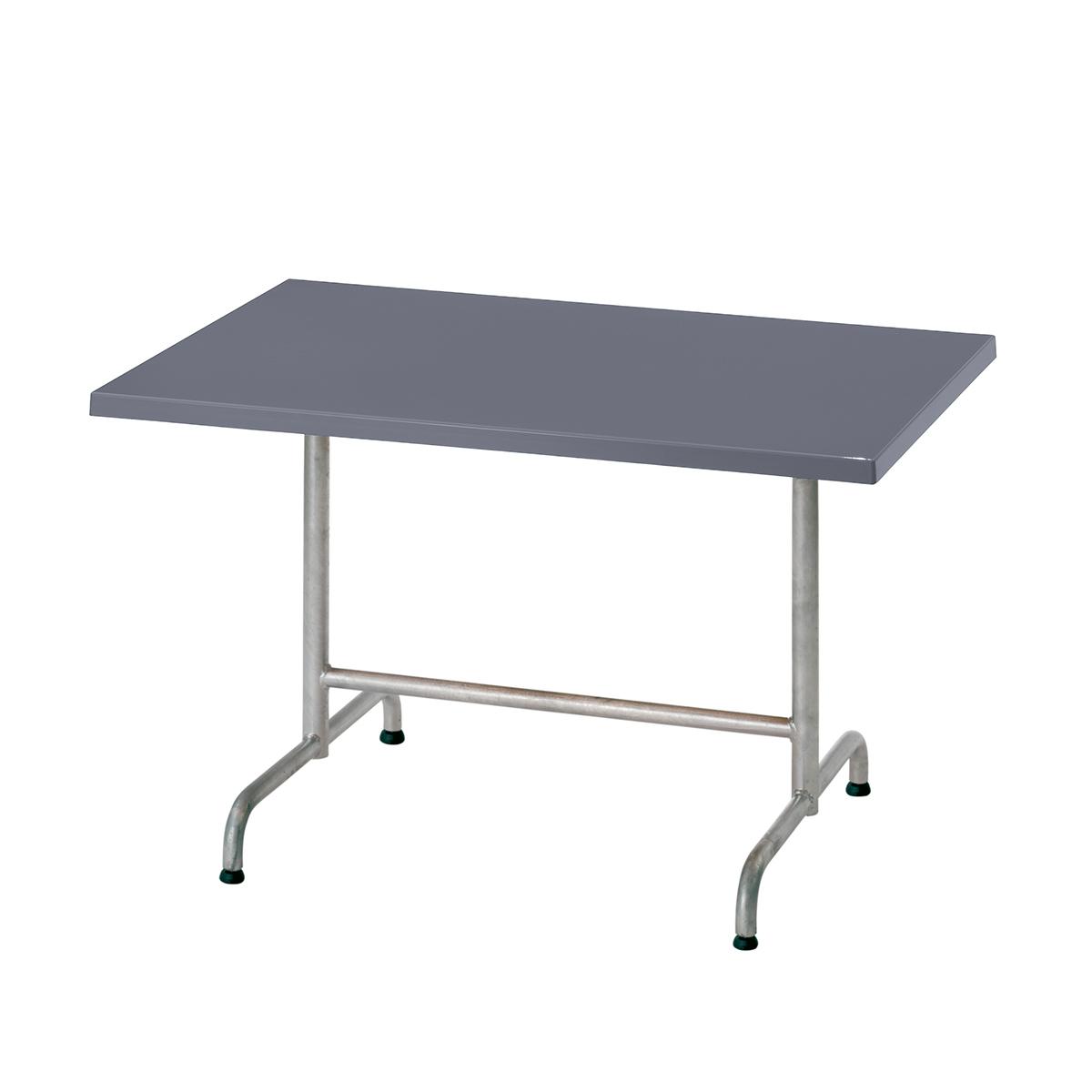 GFK Tisch fehgrau 120x80