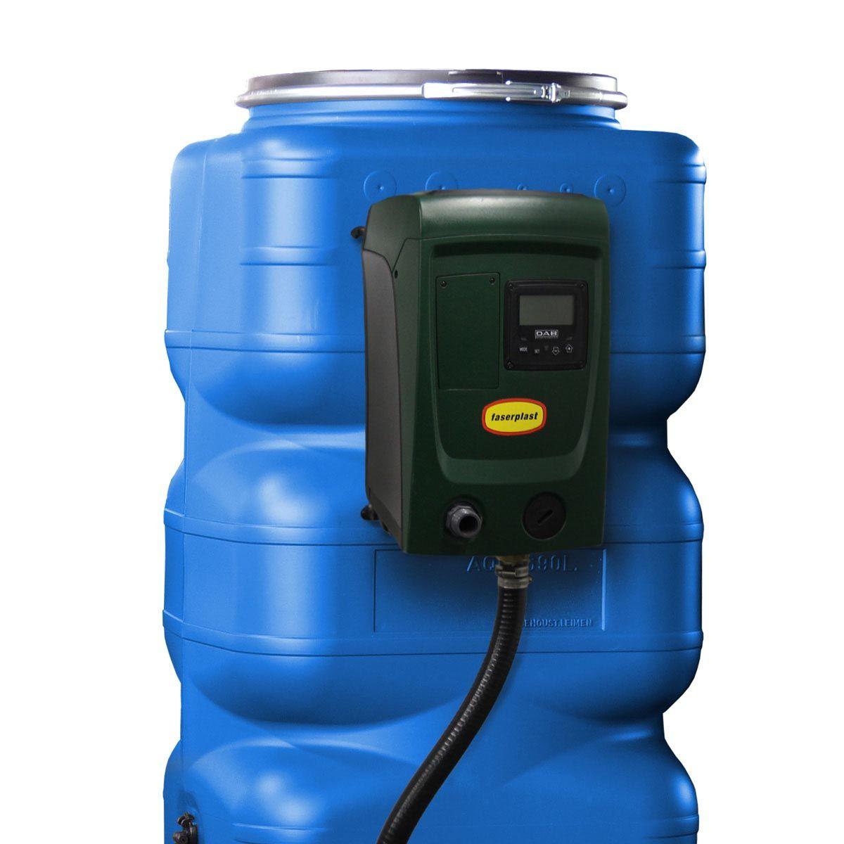 Hauswasseranlage HaWa 690, mit aufgebauter Pumpe e.sybox mini 3, 690 l, 1000 x 720 x 1695 mm, 41 kg