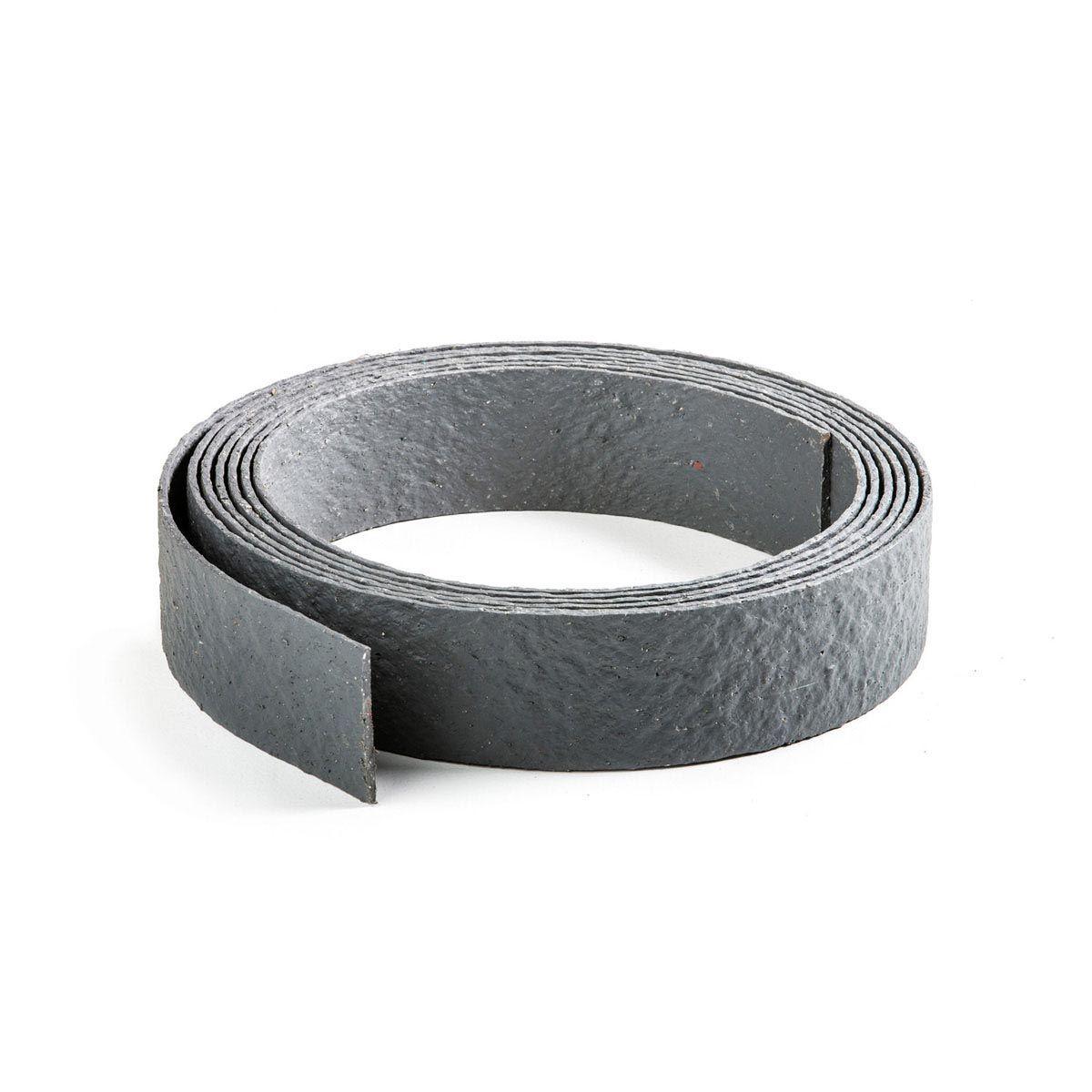 Teich-Umrandungsband, aus Recycling-Kunststoff, grau, 10 m x 14 x 0.7 cm