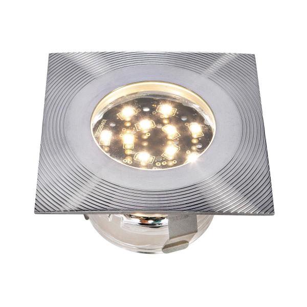 Einbauleuchte Doba R5, aus Edelstahl, 1 W LED, warm weiss, 12 V, 45 x 75 mm