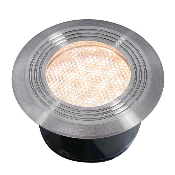Einbauleuchte Onyx 60 R1, aus Edelstahl, warm weiss, 12 V, 1 W, 75 x 41 mm (DxH)