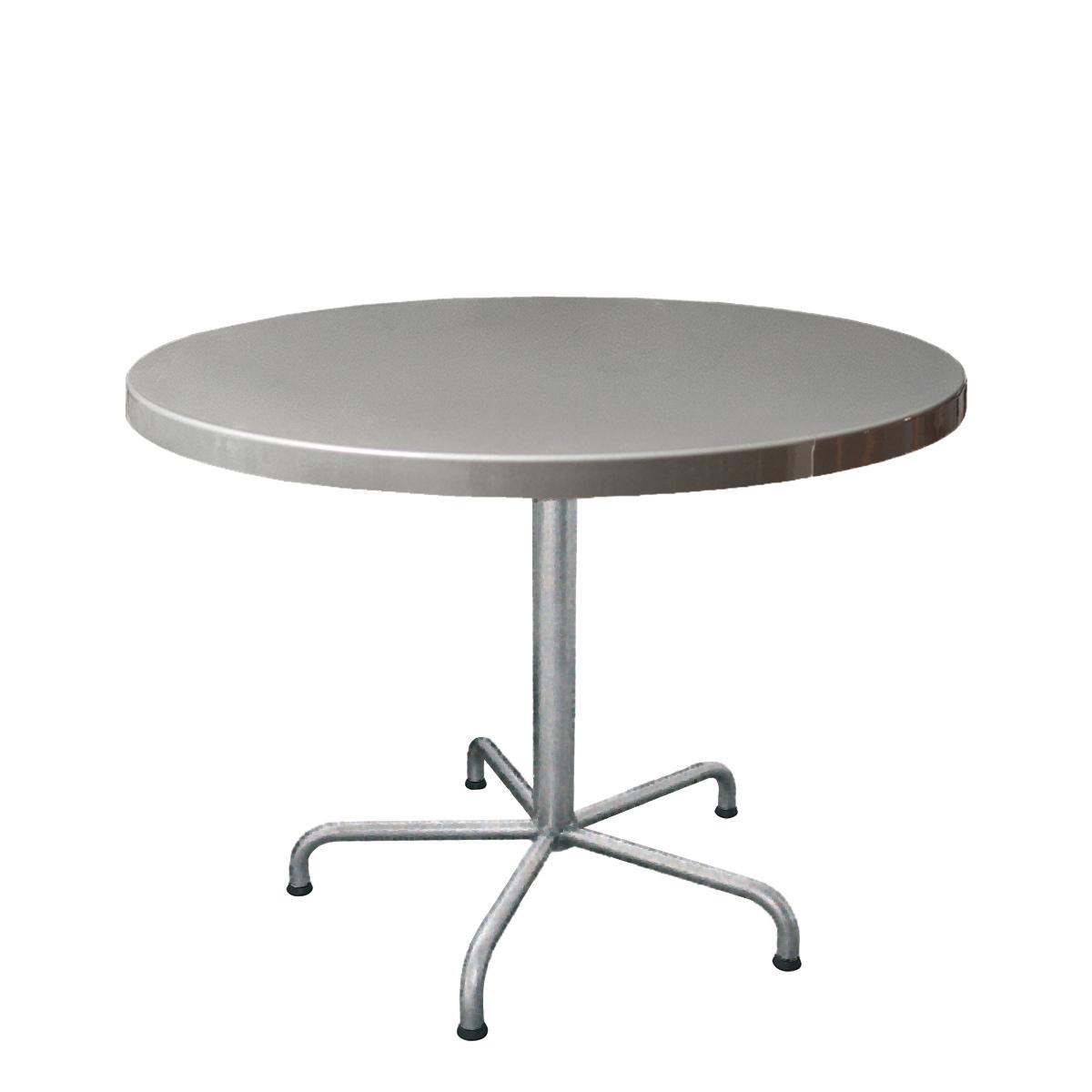 GFK Tisch silber D100