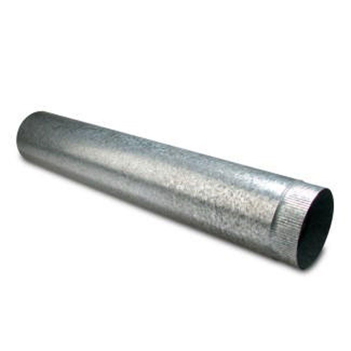 Abgasrohr starr zu Ölheizgebläse, Stahlblech verzinkt, D 120 mm, L: 1 m