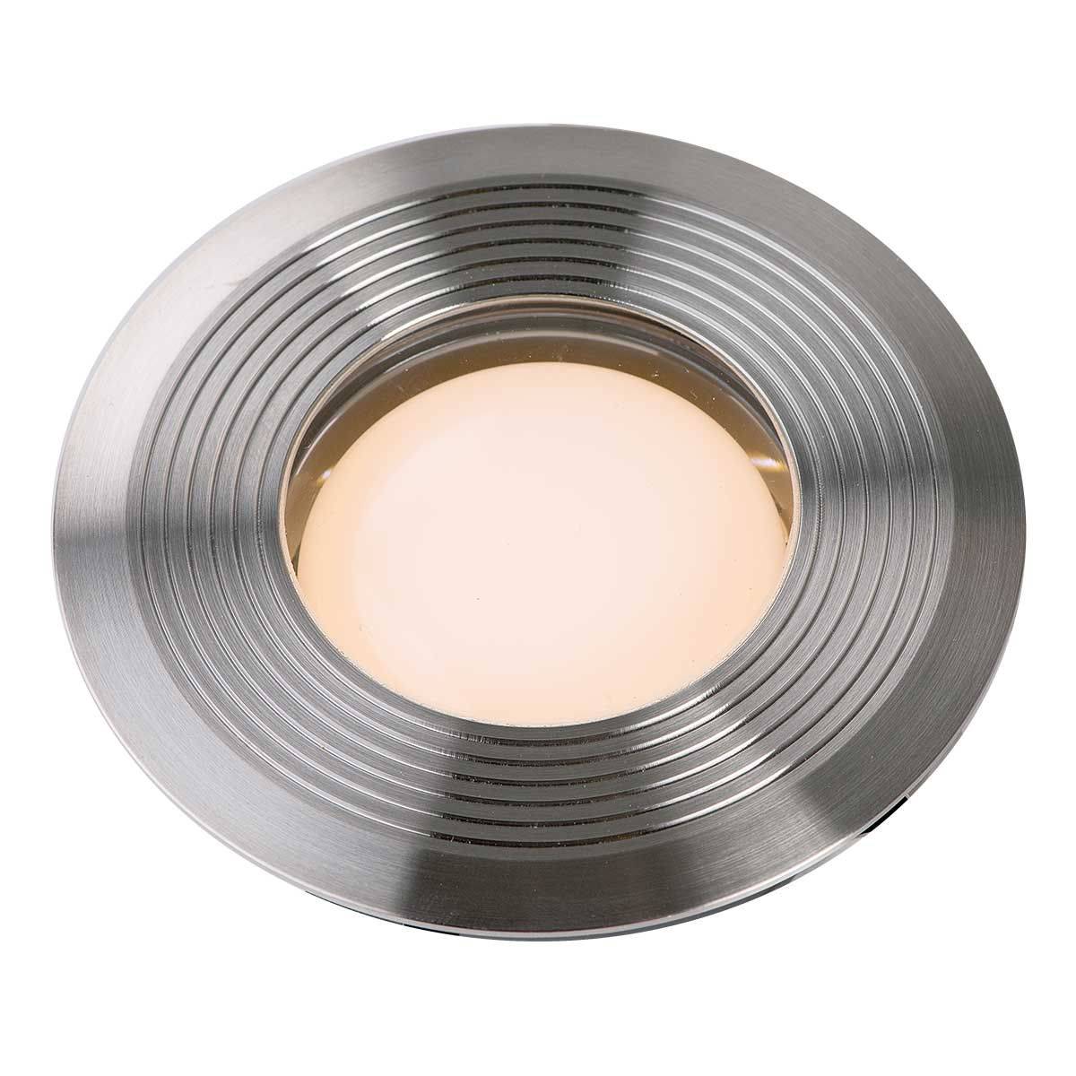Einbauleuchte Onyx 90 R1, aus Edelstahl, warm weiss, 12 V, 1.5 W, 45 x 105 mm