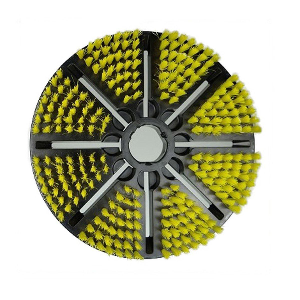 Vacugrip-Bürste zu Biber 22, gelb, weich, D 250 mm