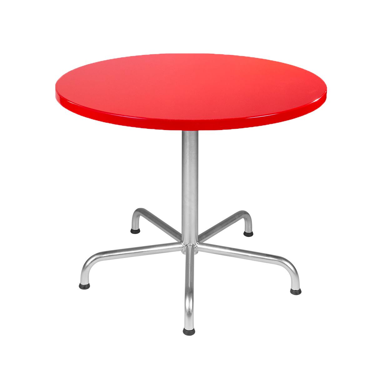 GFK Tisch verkehrsrot D100