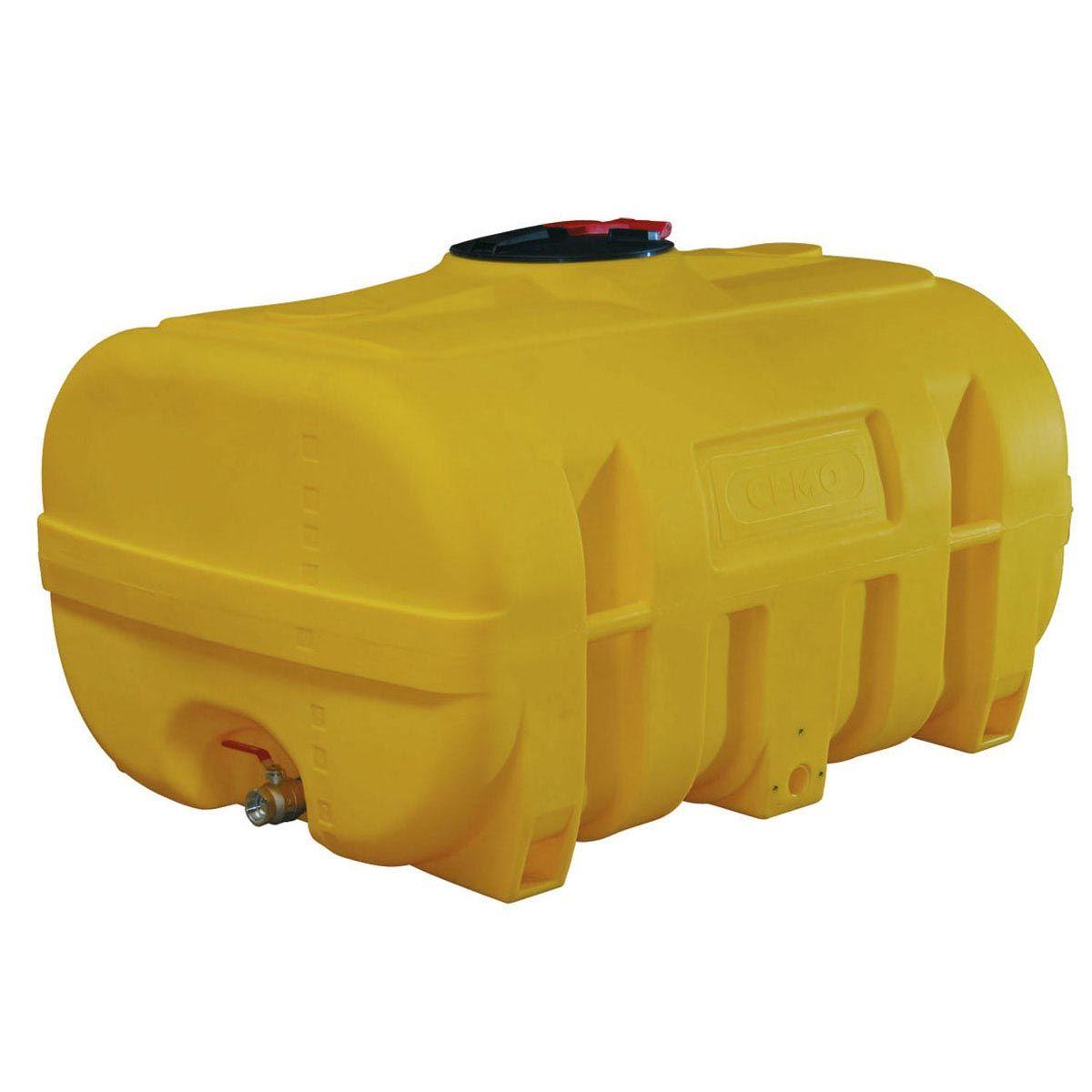 Transportfass, aus PE, gelb eingefärbt, kofferförmig, 600 l, 1200 x 900 x 900 mm