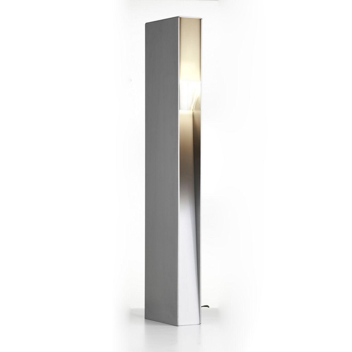 Standleuchte Opal, Aluminium, anthrazit, warm weiss, 12 V, 3 W, 705 x 65 x 165 mm