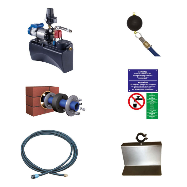 Pumpenpaket ECO, für Haus- und Gartenanlage, DN 100