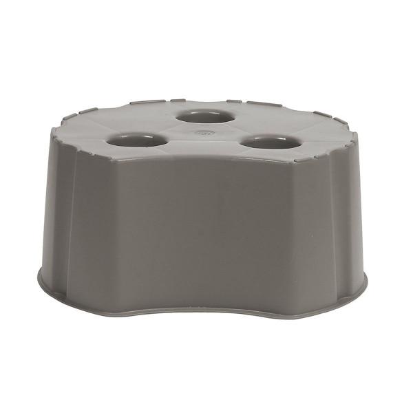 Unterstand Lanzarote, aus PP, graphite grey, rund, 300 l, 530 x 530 x 330 mm