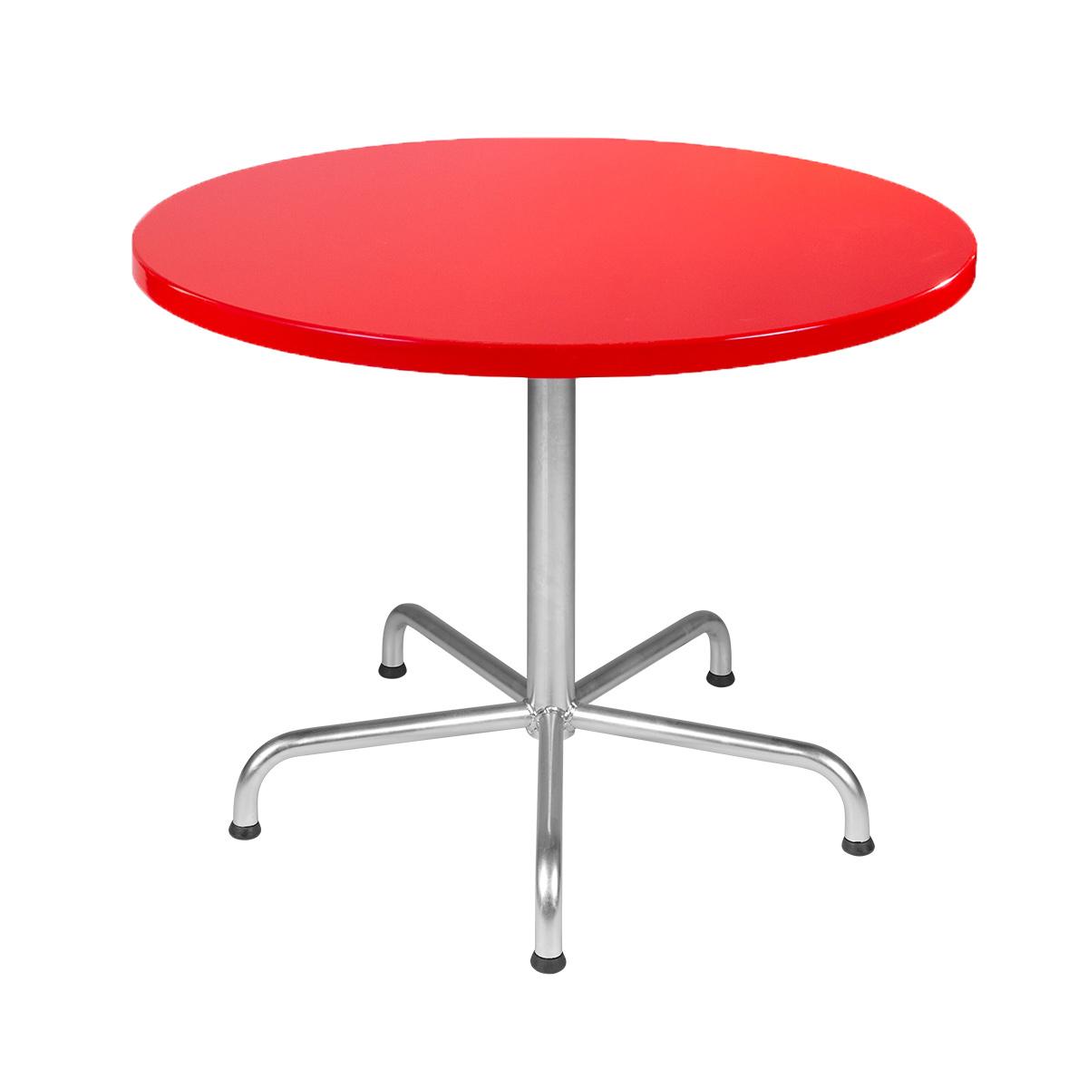 Table en PRV rouge trafic D120