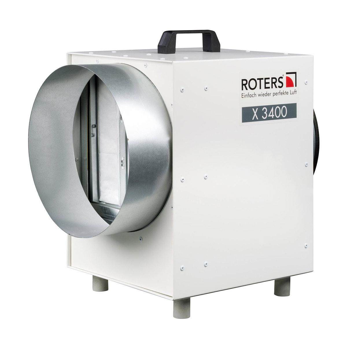 Staubfilterbox FT X3400, Stahl lackiert, grau, 1100 m3/h,490 x 320 x 490 mm, D: 300 mm