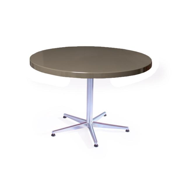 GFK Tisch beigegrau D100