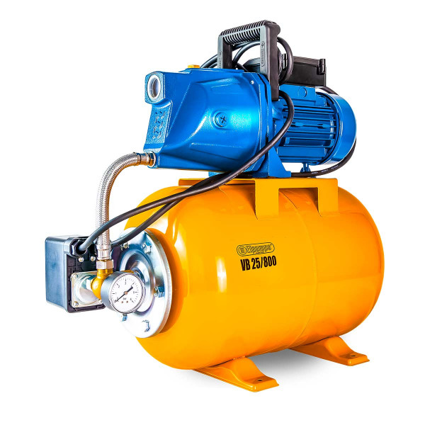 Hauswasserwerk VB 25/800, H max 40.0 m, Q max 3600 l/h, 0.8 kW, 525 x 285 x 580 mm, 1' IG, 230 V