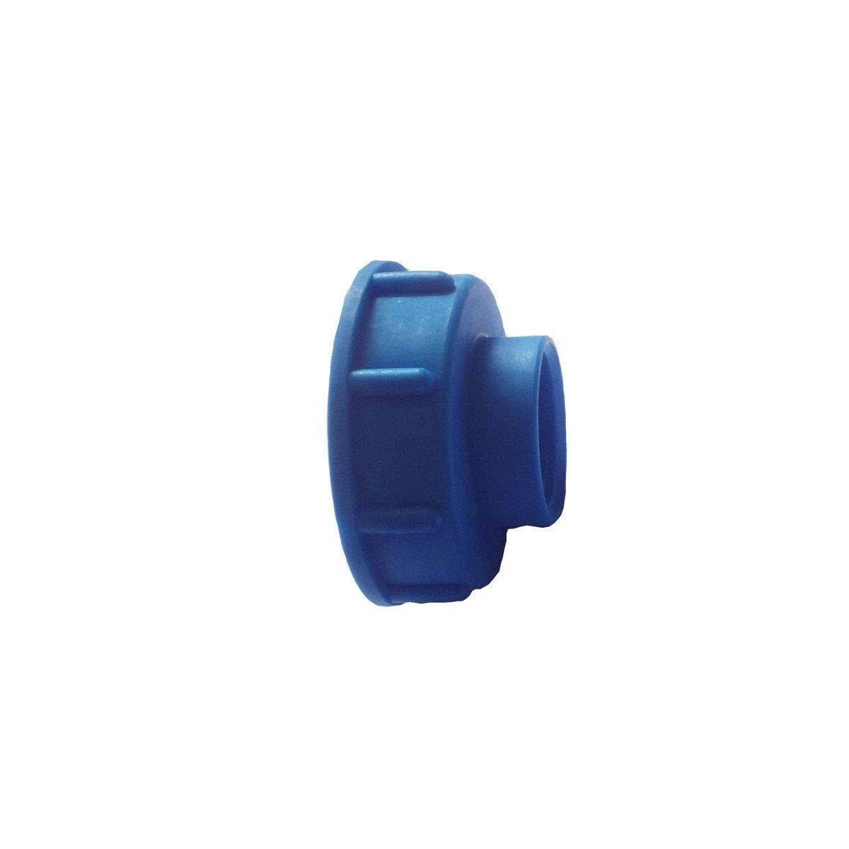 Adapter IG zu IBC Container, aus Kunststoff, blau, S60 x 6 IG, 1' IG