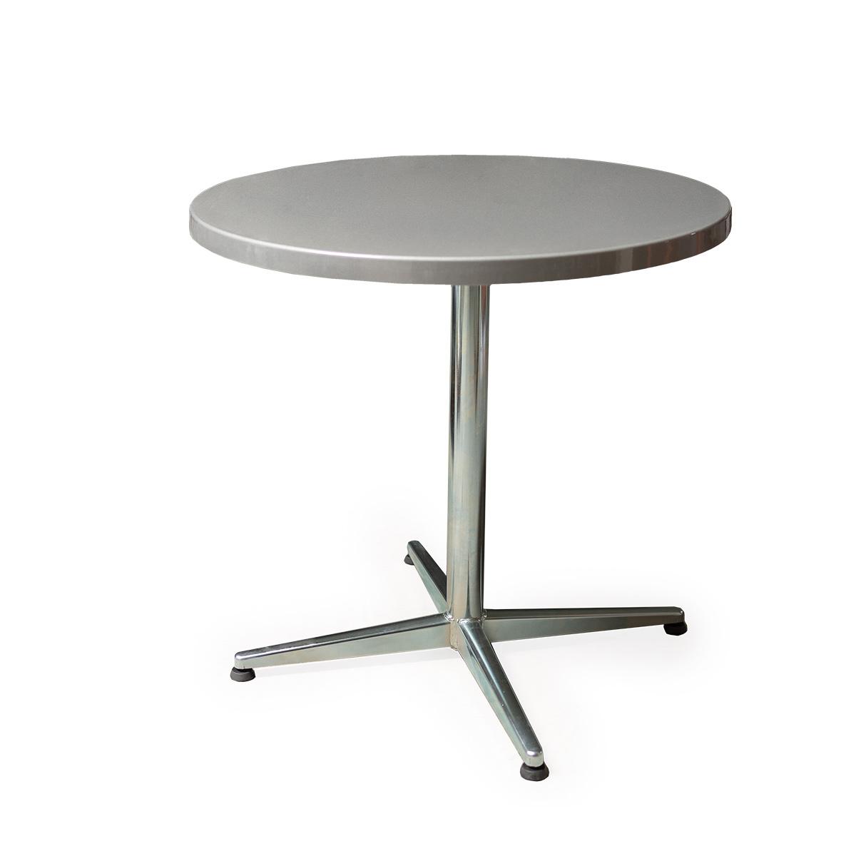 GFK Tisch silber D80