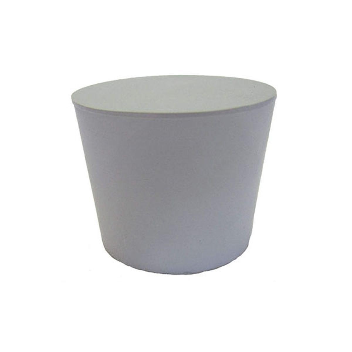 Gummistopfen, aus Naturkautschuk, grau, D 16 x D 21 x H 25 mm