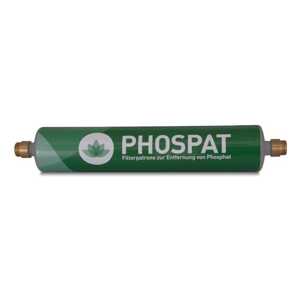 Algenbekämpfung Phospat I, aus Messing und PP, 470 x 80 x 80 mm, 2x 3/4' AG