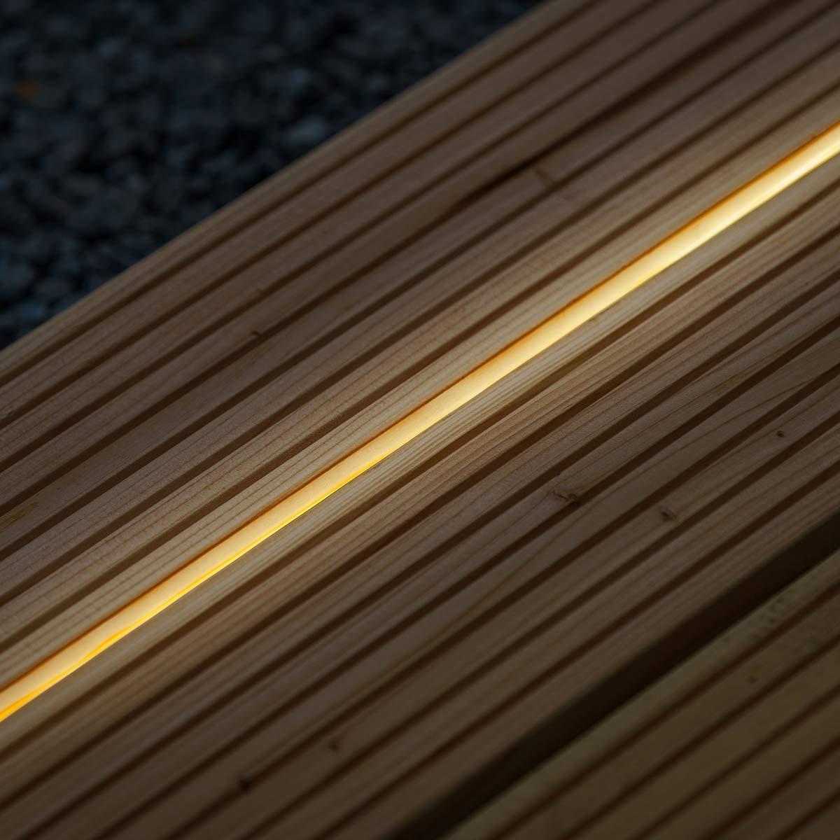 LED Streifen, Kunststoff, warm weiss, 15 m