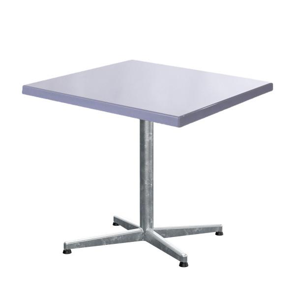 GFK Tisch silber 80x80