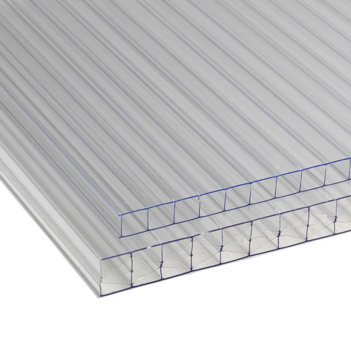 Doppelstegplatte, aus PC, transparent, 6000 x 2100 x 10 mm