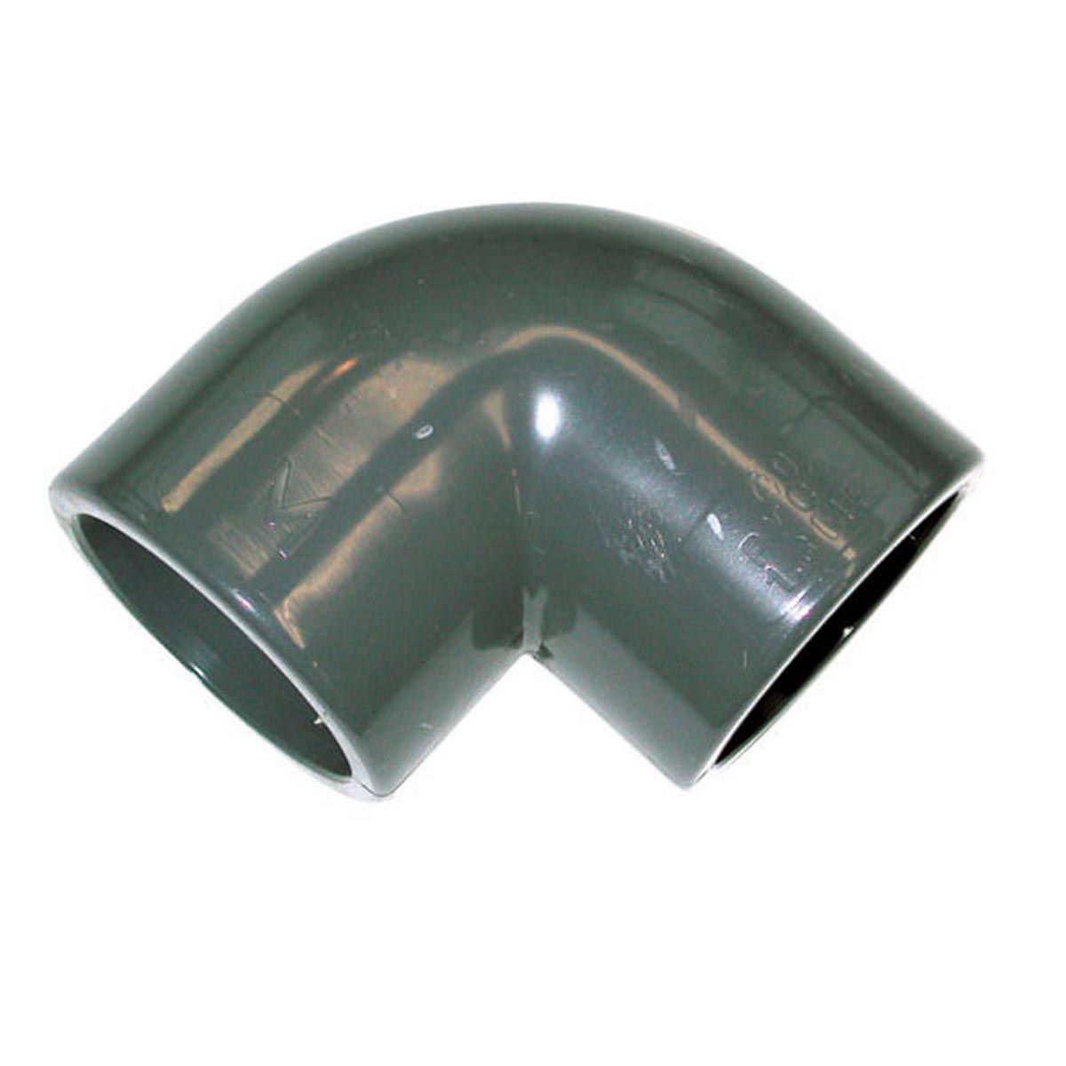 Winkel 90° zum Kleben, aus PVC, grau, d 16 mm, PN 16