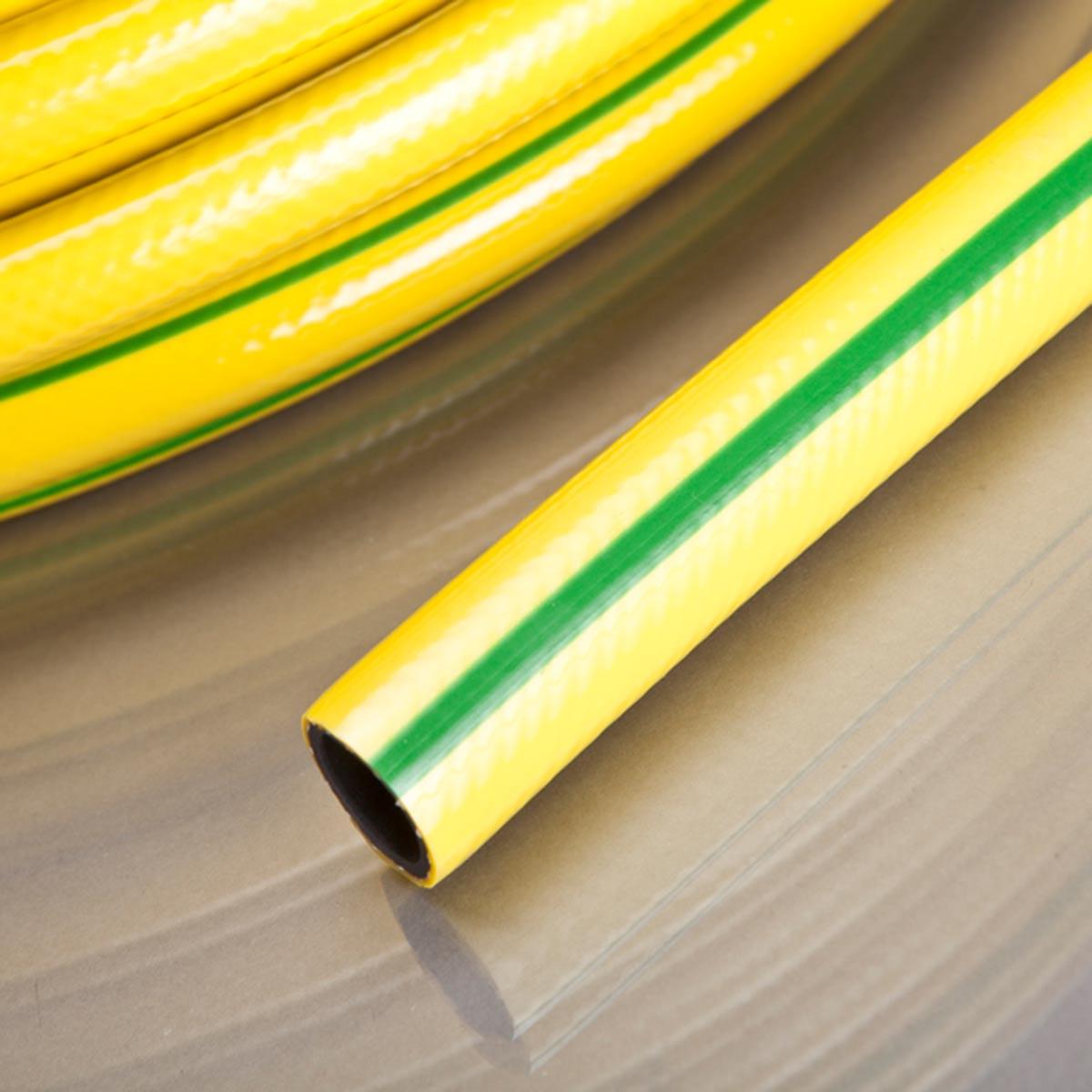 Gartenschlauch Classic Zuschnitt, aus PVC, gelb, L 50 m, d 15 mm, D 21 mm